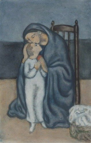Открытки ко дню матери: Пикассо П. Материнство