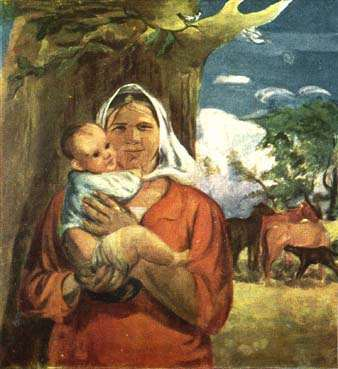 Открытки ко дню матери: Шурпин Ф. С. Материнство. Извечное