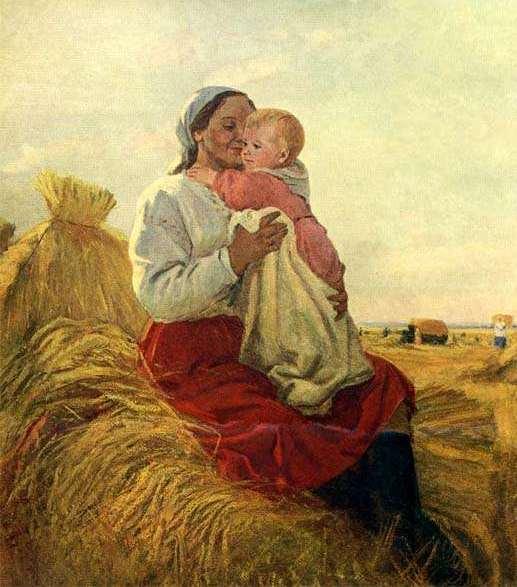 Открытки ко дню матери: Шурпин Ф. С. В поле.