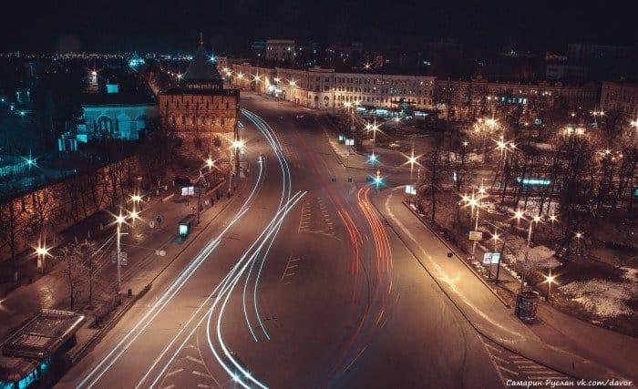 Ночной вид площади Минина и Пожарского flickr.com