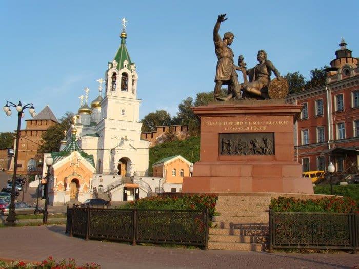 Памятник Минину и Пожарскому в Нижнем Новгороде flickr.com