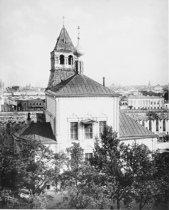 Церковь Благовещения, что на Житном дворе. Фото XIX века.