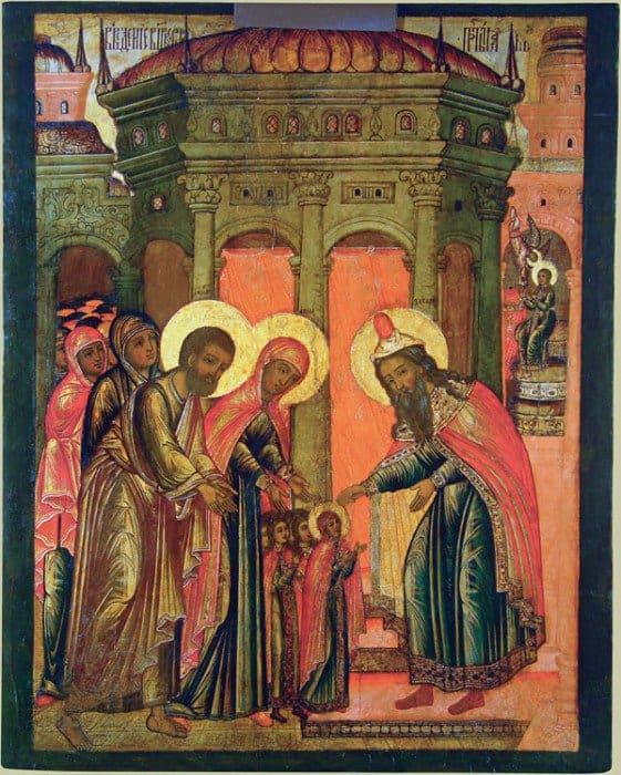 Введение во храм Пресвятой Богородицы. XVII в. Владимиро-Суздальский музей-заповедник