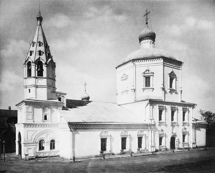 Храм в честь иконы Неопалимая Купина в Хамовниках. Фото 1882 г.