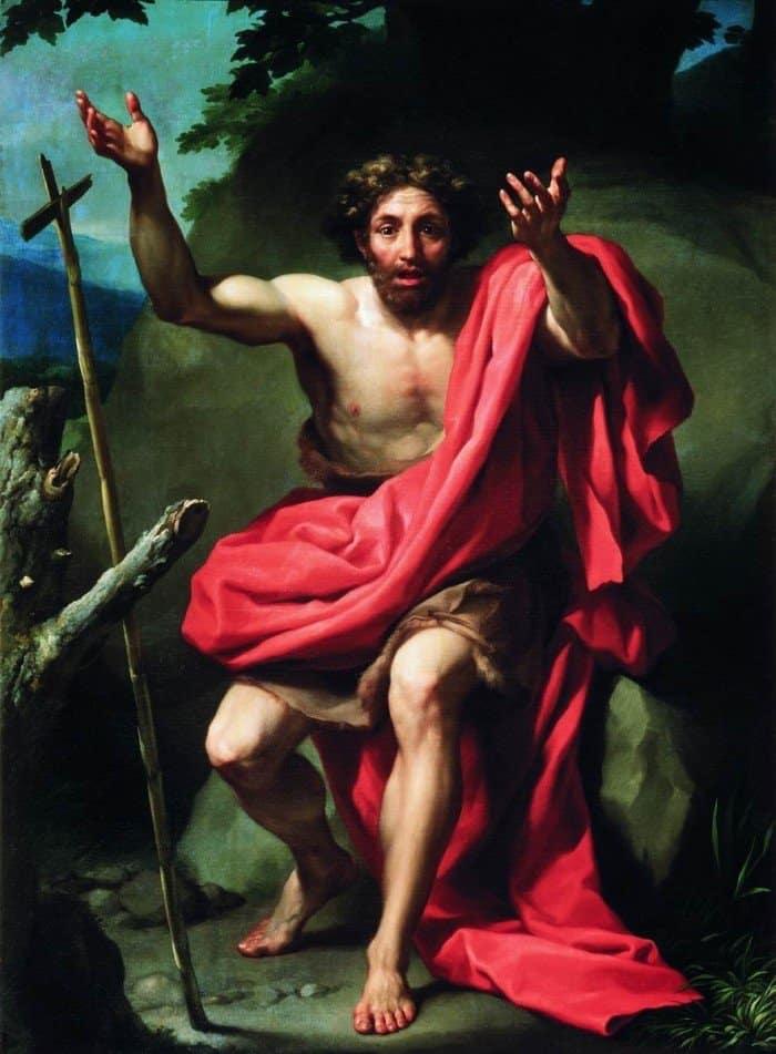 Антон Рафаэль Менгс. Св. Иоанн Креститель, проповедующий в пустыне.