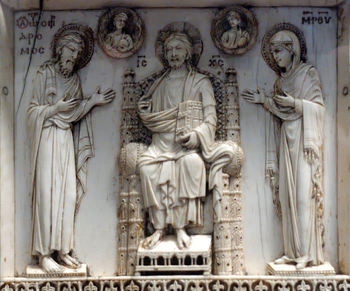 Деисис. Триптих Арбавиля. Византия, ок. 950 г.