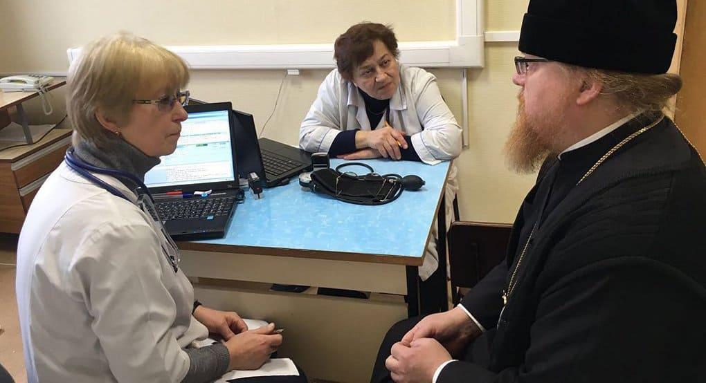 Епископ Подольский Тихон первым сдал кровь в рамках донорского проекта Церкви