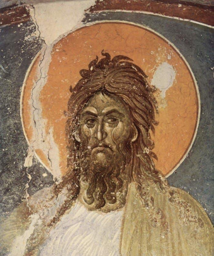 Иоанн Креститель. Фреска. Монастырь XIV век.