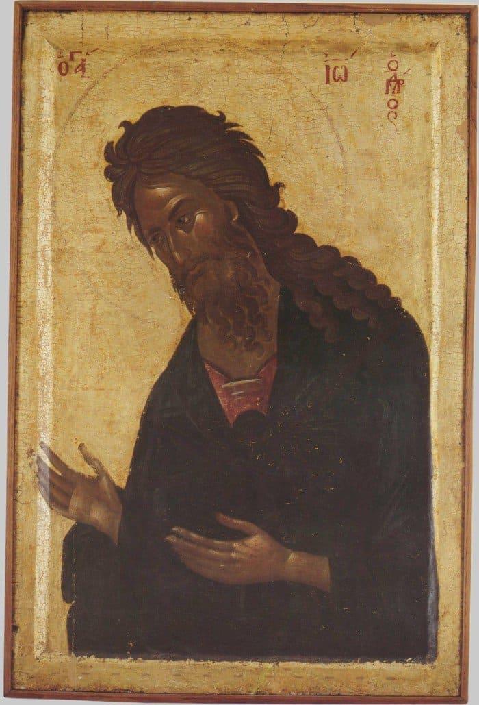 Иоанн Креститель. Византия. XIV в. Греция. Афон, монастырь Хиландар
