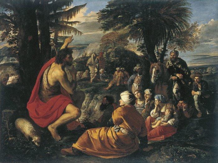 Пьер Франческо Мола. Святой Иоанн Креститель проповедует в пустыне. Ок 1650-55