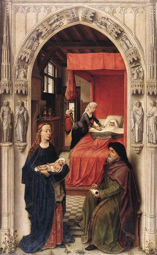 Рогир ван дер Вейден. Наречение Иоанна Крестителя. 1455-1460