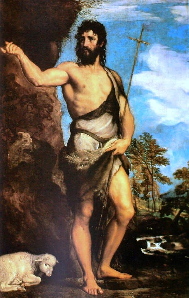 Тициан. Иоанн Креститель с агнцем. 1542