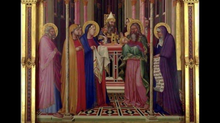 Амброджо Лоренцетти. Принесение во храм. 1342
