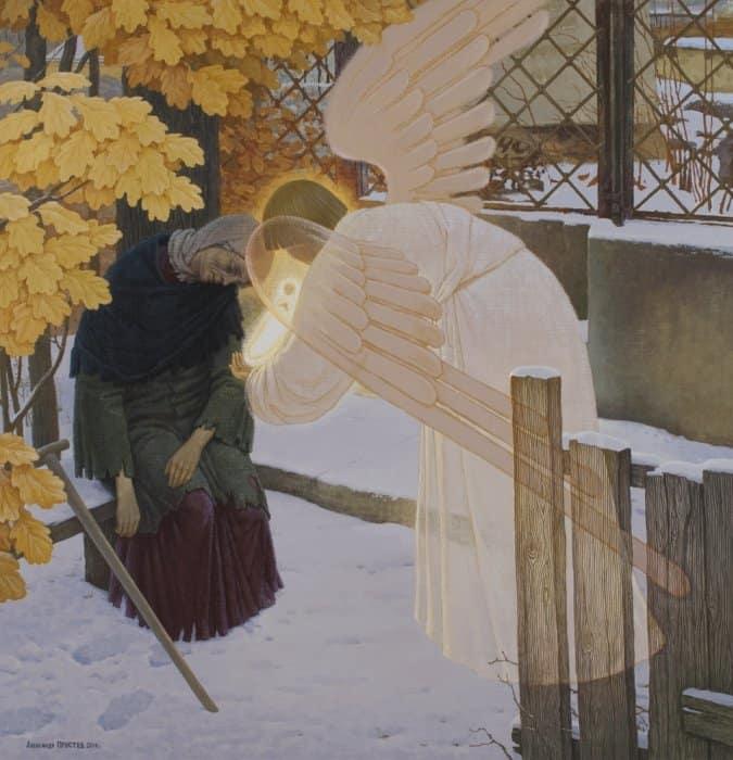 К_Ангел, принимающий душу блаженной Ксении Петербургской