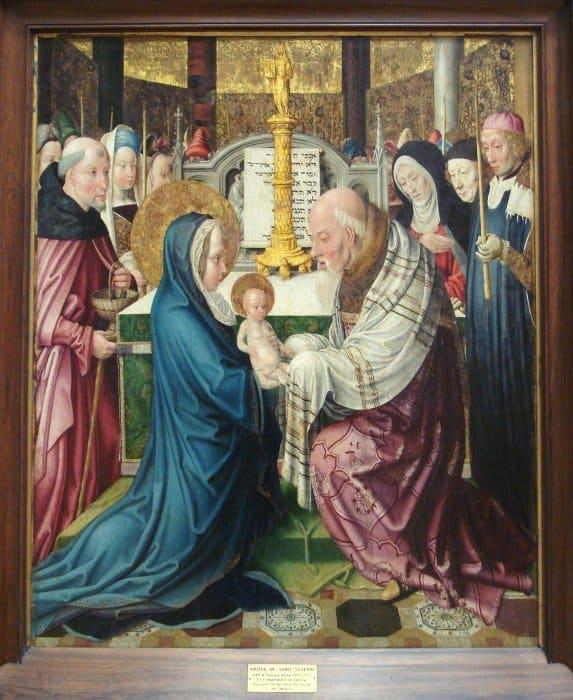 Мастер Сан-Северино из Кельна. Принесение Христа во храм