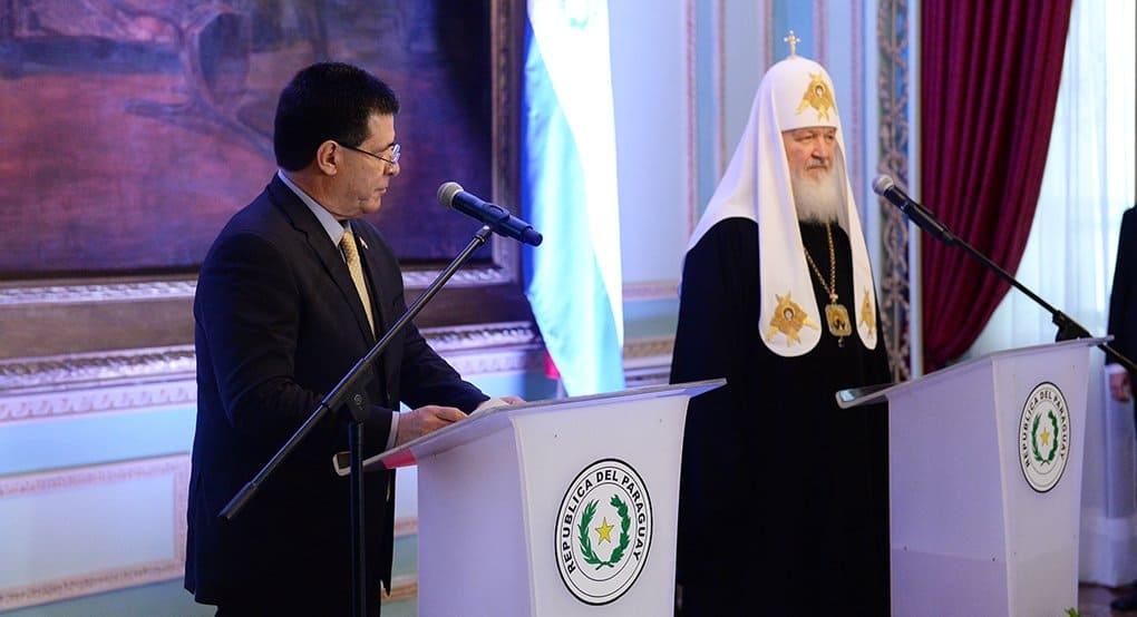 Живая память о русских в Парагвае - исторический фундамент для развития отношений, - патриарх Кирилл