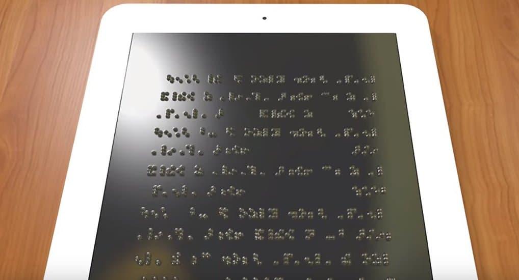 Уникальный планшет со шрифтом Брайля разработали в США