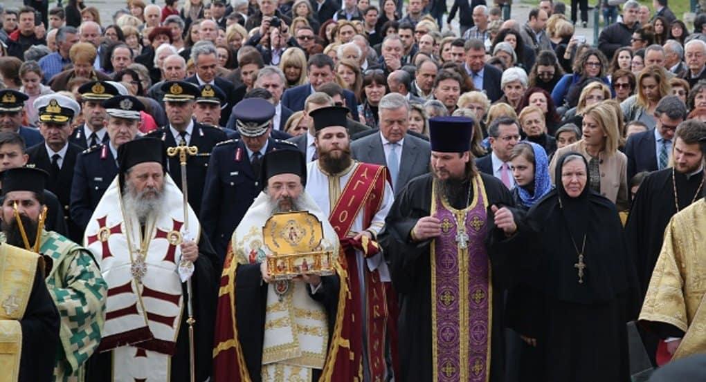 Греческие Патры встретили мощи святителя Луки Крымского всем городом