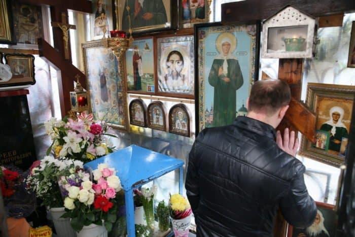 Святая Матрона в Москве