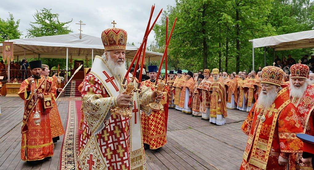 Патриарх Кирилл помолился о новомучениках под открытым небом в Бутово