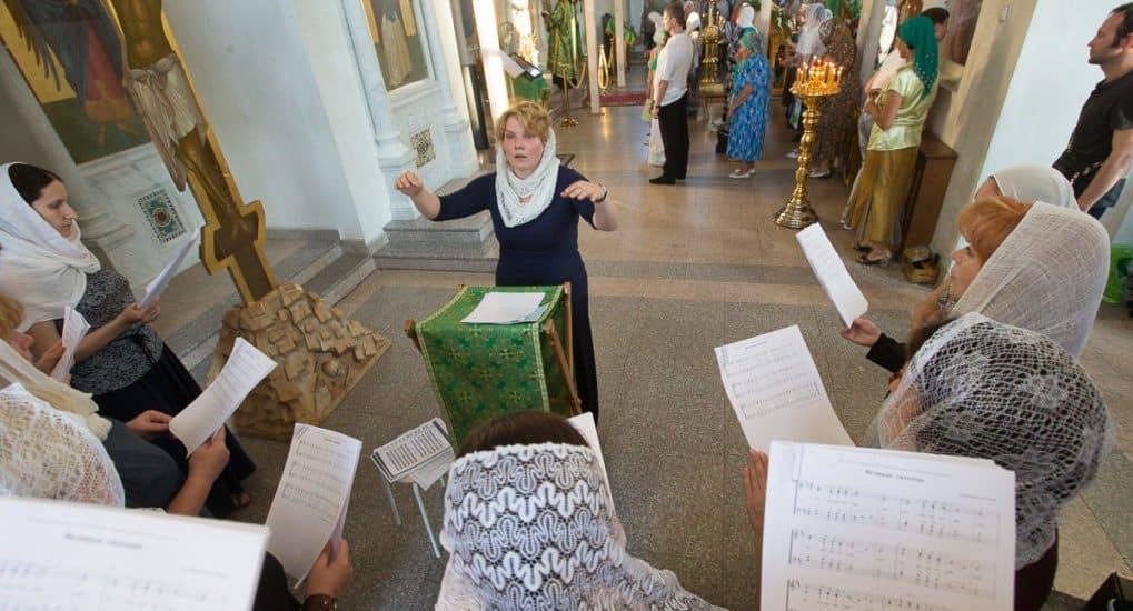Престольный праздник в храме преподобного Сергия в Солнцево