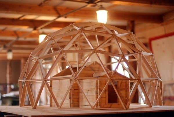 Проект купола над часовней во время реставрации
