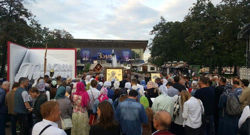 В Москве помолились о восстановлении Страстного монастыря на Пушкинской площади