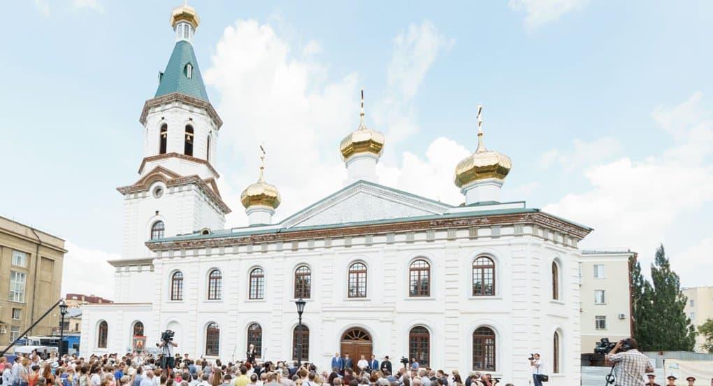 Воссозданный Воскресенский собор Омска открыли на 300-летие города