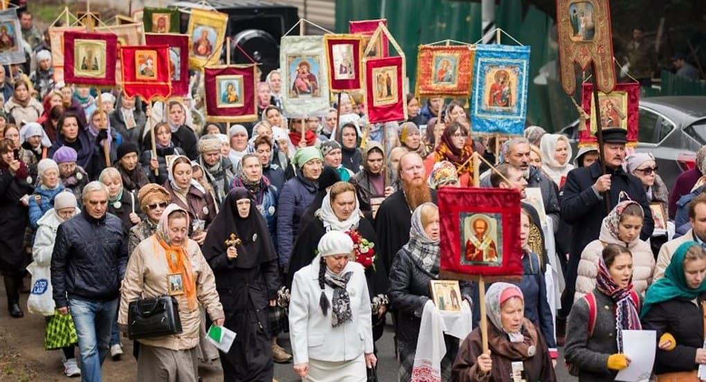 В Подмосковье прошли крестным ходом в память о святой Елизавете Федоровне