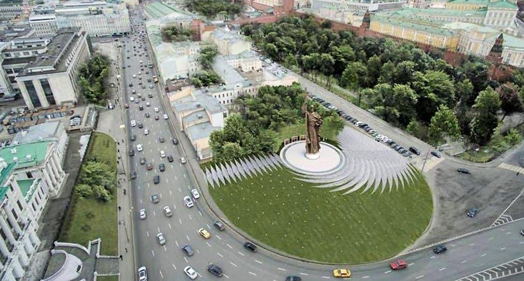 Памятник князю Владимиру откроют на Боровицкой площади в ноябре 2016-го
