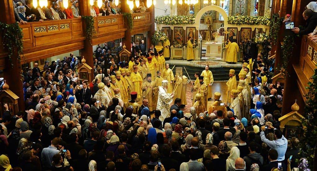 Патриарх Кирилл освятил отреставрированный Успенский собор Лондона