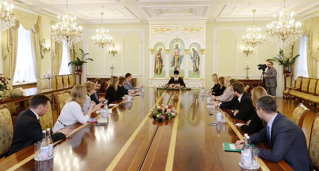 Патриарх пообщался с журналистами «Фомы» и радио «ВЕРА»