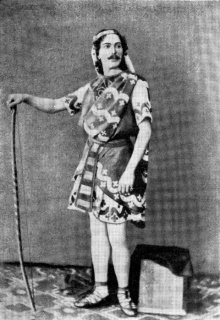 Мариус Петипа в партии Таора. 1862 г.