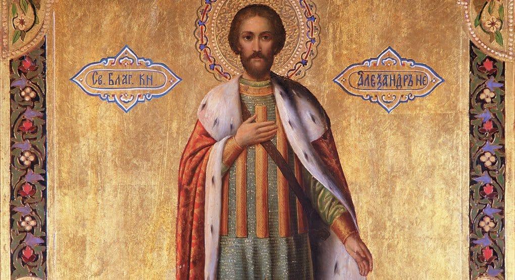 Почему святой Александр Невский на иконе — вгорностаевой мантии?