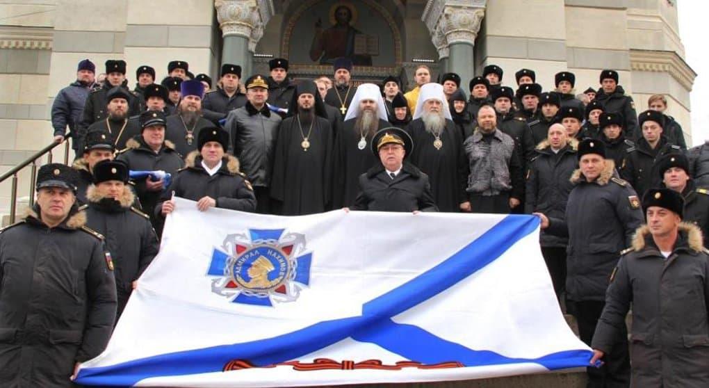 В севастопольском соборе-усыпальнице освятили флаги флота России