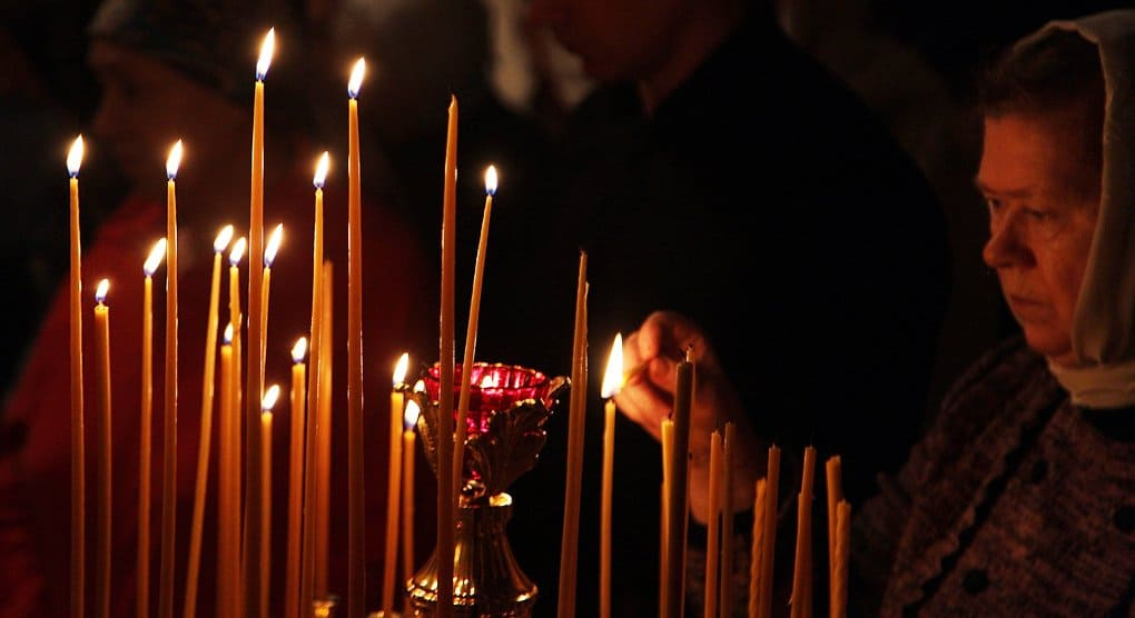 Литию по жертвам крушения ТУ-154 перенесли из Елоховского собора в Новоспасский монастырь