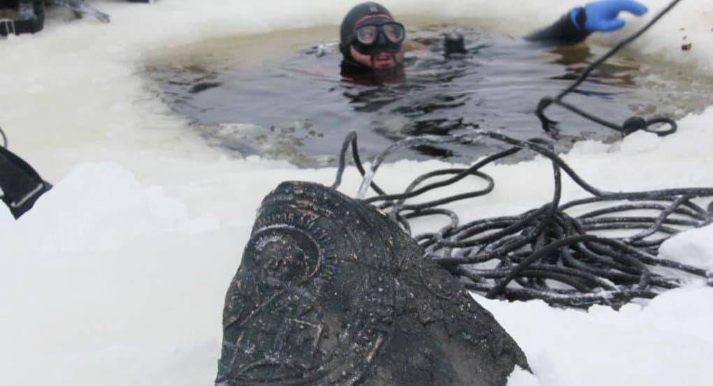 Остатки храма и колокола найдены на дне Рыбинского водохранилища