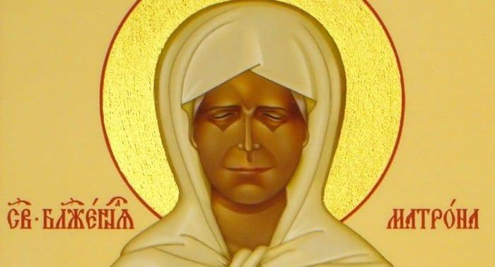 Почему на одних иконах блаженную Матрону изображают с открытыми глазами, а на других— с закрытыми?