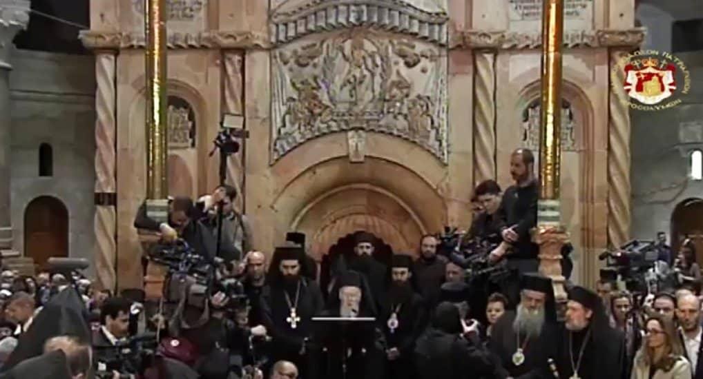 Освящена отреставрированная Кувуклия Гроба Господня