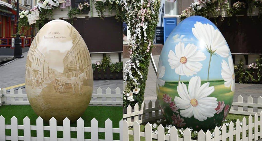 Двухметровые пасхальные яйца покажут в парке Мосгордумы