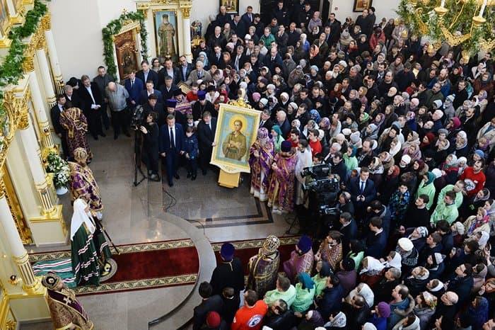 Патриарх Кирилл освятил храм святого Иоанна Русского в Кунцеве