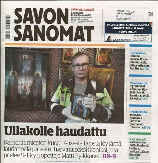 Икону русского святого XV века нашли на чердаке в Финляндии
