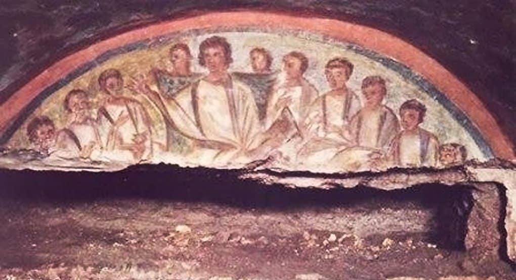 Лазер помог ученым найти уникальные фрески в катакомбах Рима