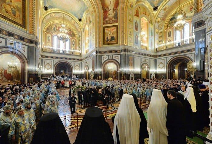 100-летие восстановления Патриаршества в России отметили торжественной Литургией
