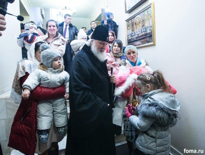 Как Патриарх встречает Рождество