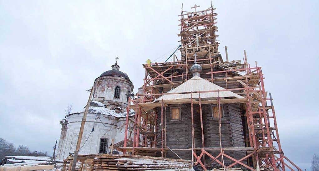 К апрелю 2018-го на Вологодчине восстановят уникальный храм XVIII века