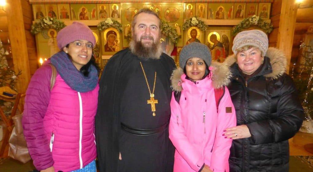 Жены индийских подводников познакомились с православием на Русском Севере