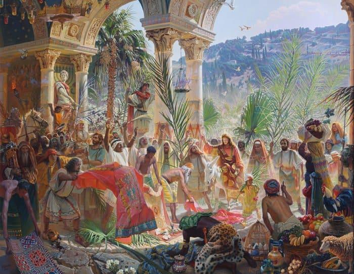 Вход Господень в Иерусалим на картине Игоря Сушенка
