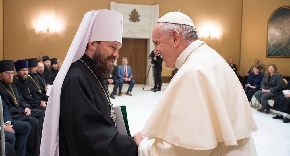 Папа Римский не может быть арбитром в отношениях между Русской Церковью и Константинополем, - митрополит Иларион