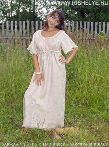 5 льняных платьев с вышивкой для жаркого лета от фабрики Ришелье